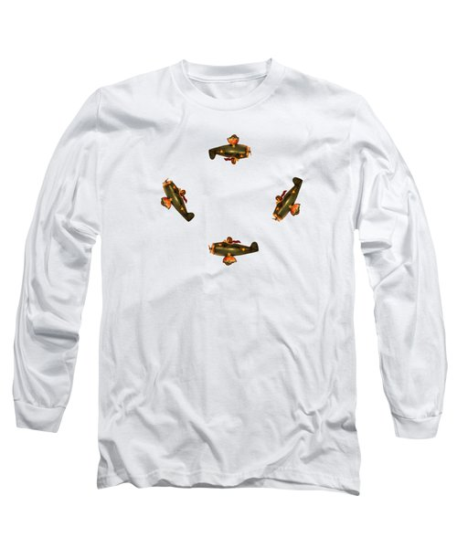 I Dont Want To Be Tail End Charlie Long Sleeve T-Shirt by Linsey Williams