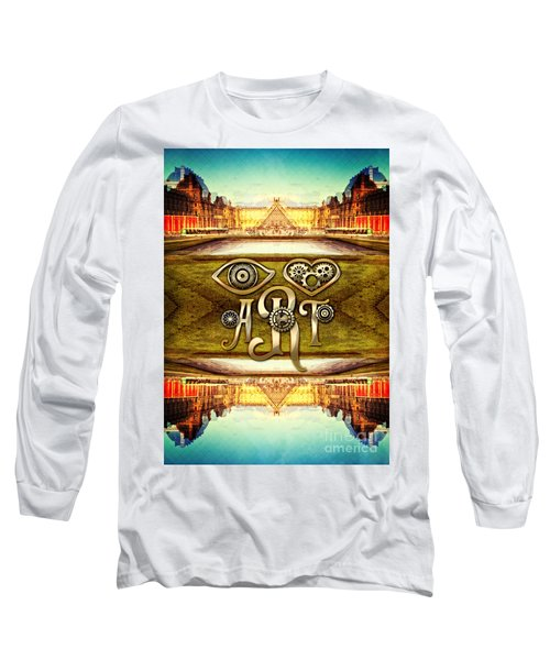I Heart Art Louvre Museum Paris Da Vinci Gears Long Sleeve T-Shirt