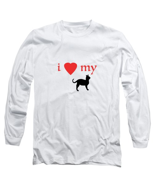 I Heart My Cat Long Sleeve T-Shirt