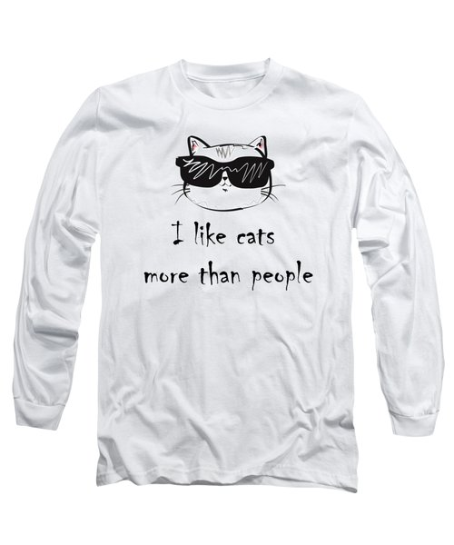 I Like Cats Long Sleeve T-Shirt