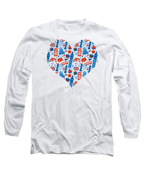 I Love England A Pattern For Anglophiles Long Sleeve T-Shirt