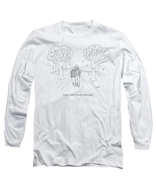 I Love It When The Shirts Turn Plaid Long Sleeve T-Shirt