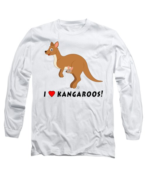 I Love Kangaroos Long Sleeve T-Shirt by A