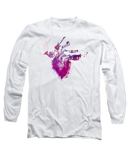 I Love Music - Music My Love Red Long Sleeve T-Shirt