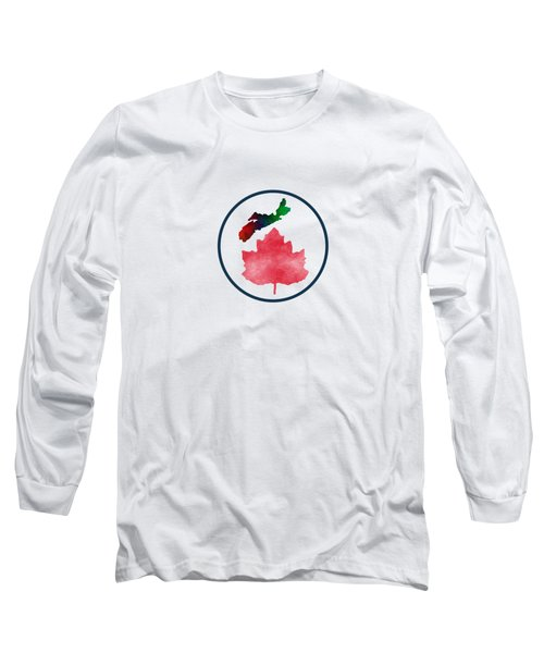 I Love Nova Scotia Canada Long Sleeve T-Shirt by Kathleen Sartoris