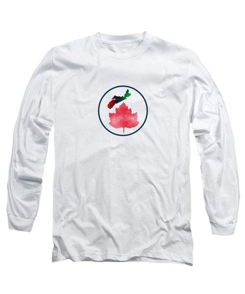I Love Nova Scotia Canada Long Sleeve T-Shirt