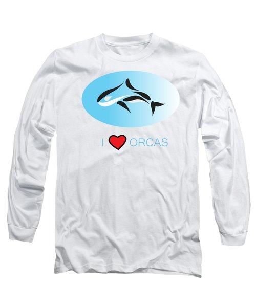 I Love Orcas Long Sleeve T-Shirt