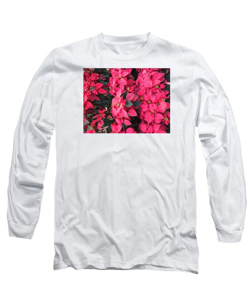 I Love Poinsettias Long Sleeve T-Shirt by Kay Gilley