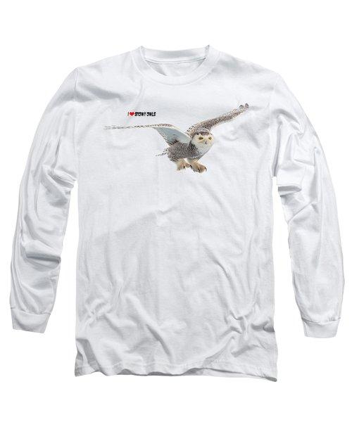 I Love Snowy Owls T-shirt Long Sleeve T-Shirt