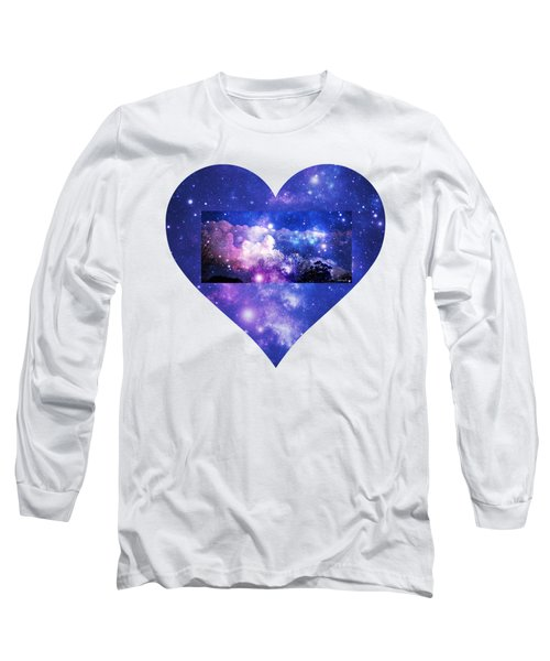 I Love The Night Sky Long Sleeve T-Shirt by Leanne Seymour
