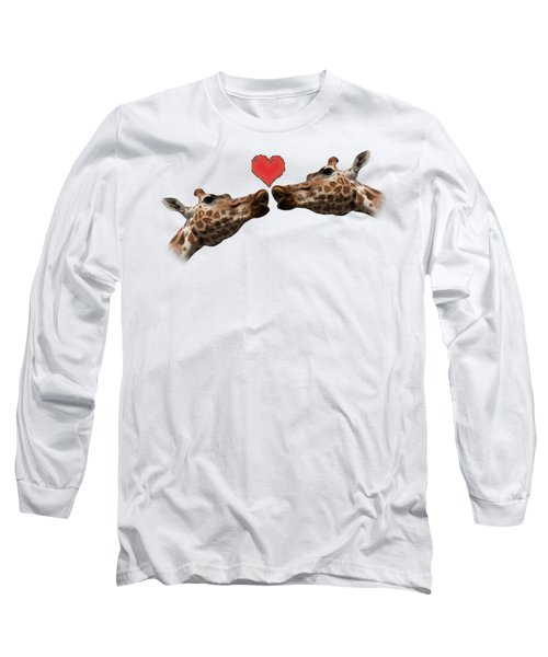 I Love You On Transparent Background Long Sleeve T-Shirt