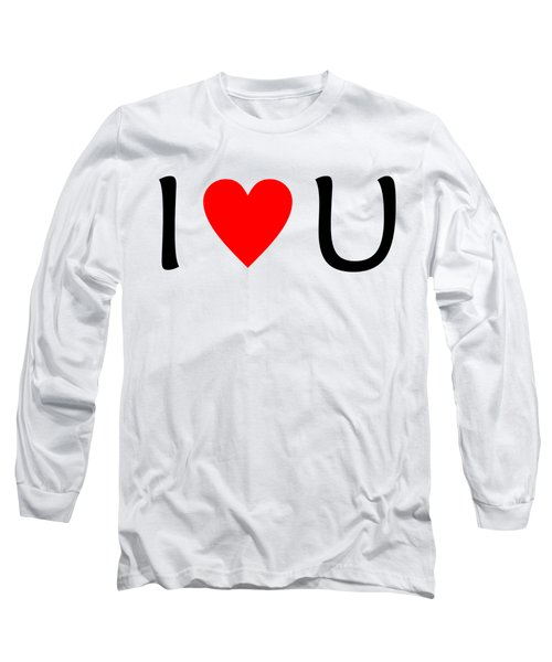 I Love You T-shirt Long Sleeve T-Shirt by Isam Awad