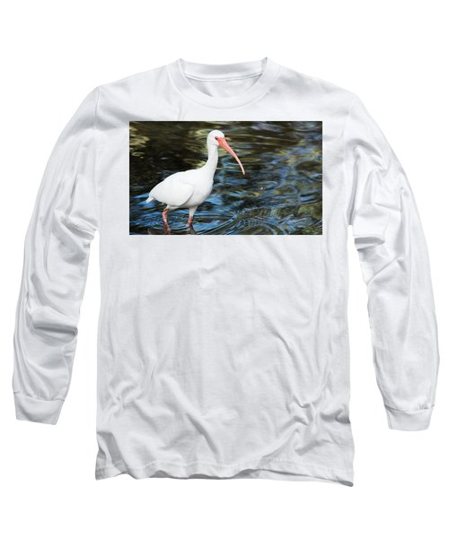Ibis In The Swamp Long Sleeve T-Shirt by Kenneth Albin