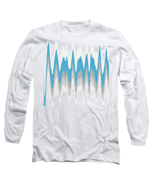 Ice Blue Abstract Long Sleeve T-Shirt