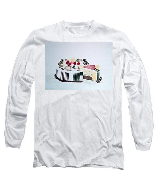 Ice Cream Cake Watercolor Long Sleeve T-Shirt