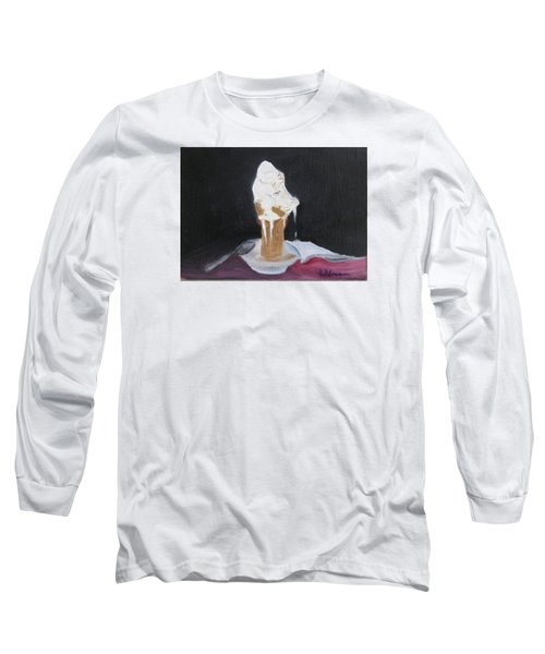 Ice Cream Melt Long Sleeve T-Shirt by LaVonne Hand