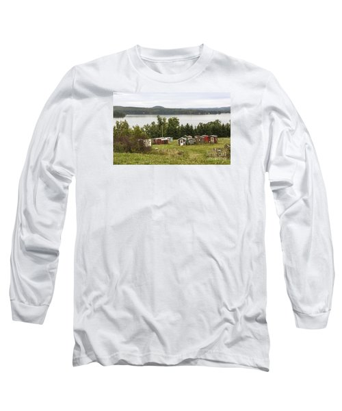 Ice Houses In Vermont Long Sleeve T-Shirt