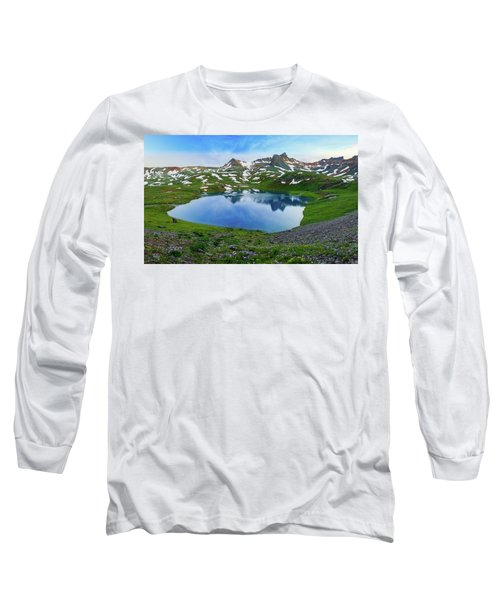 Ice Lake Panorama Long Sleeve T-Shirt