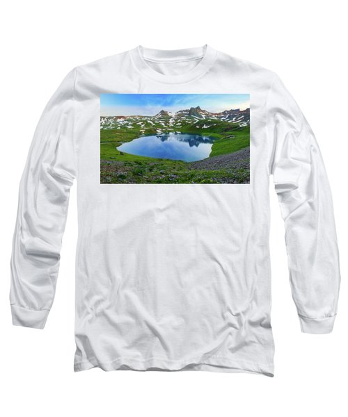 Ice Lake Panorama Long Sleeve T-Shirt
