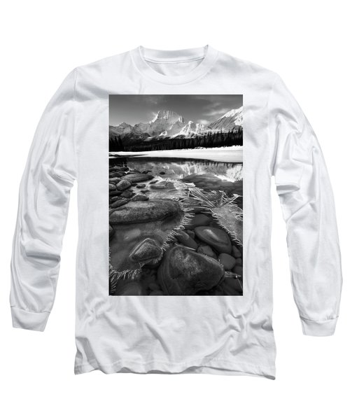 Ice On The Athabasca Long Sleeve T-Shirt by Dan Jurak