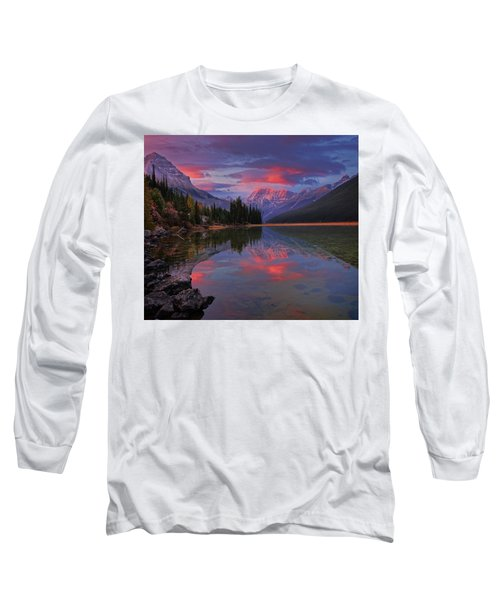 Icefields Parkway Autumn Morning Long Sleeve T-Shirt