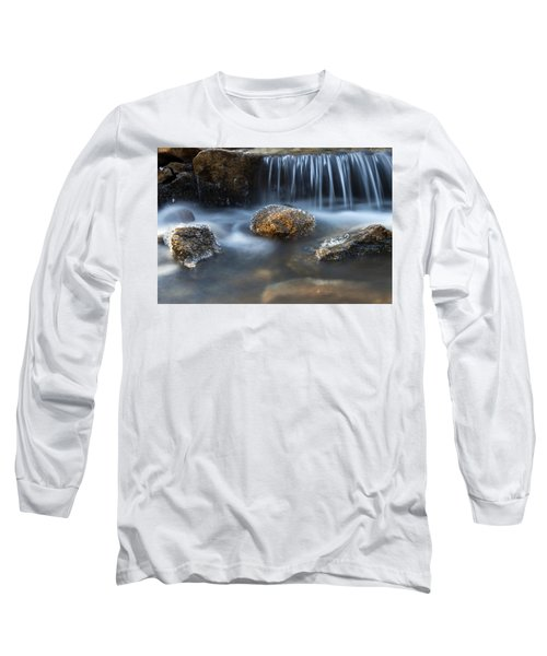 Long Sleeve T-Shirt featuring the photograph Icy Rocks On The Coxing Kill #1 by Jeff Severson