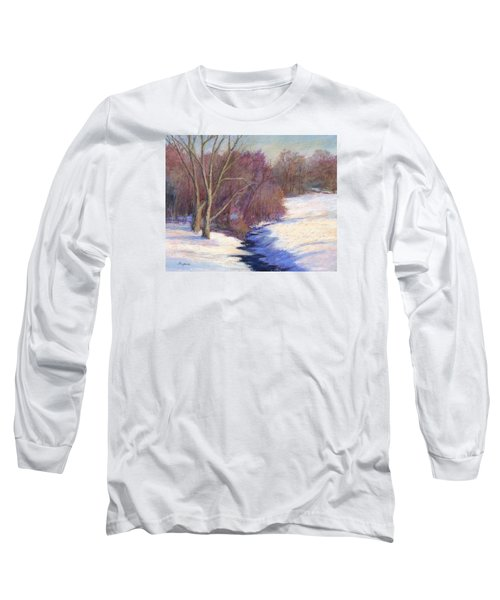 Long Sleeve T-Shirt featuring the painting Icy Stream by Vikki Bouffard