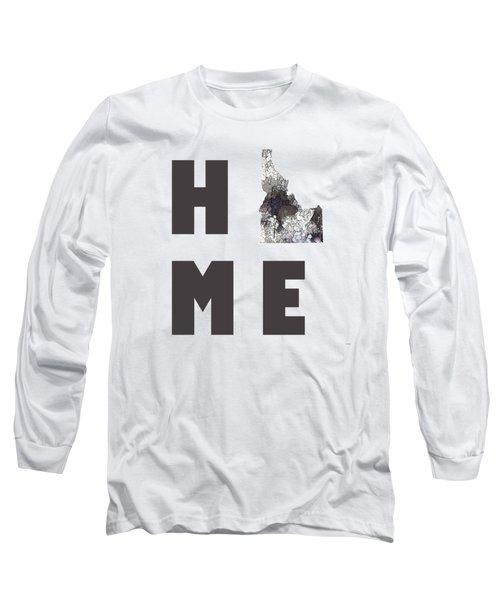 Idaho State Map Long Sleeve T-Shirt