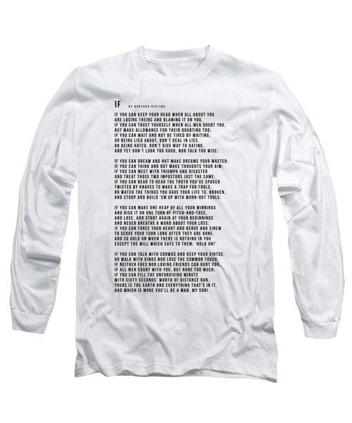 If #minimalism Long Sleeve T-Shirt