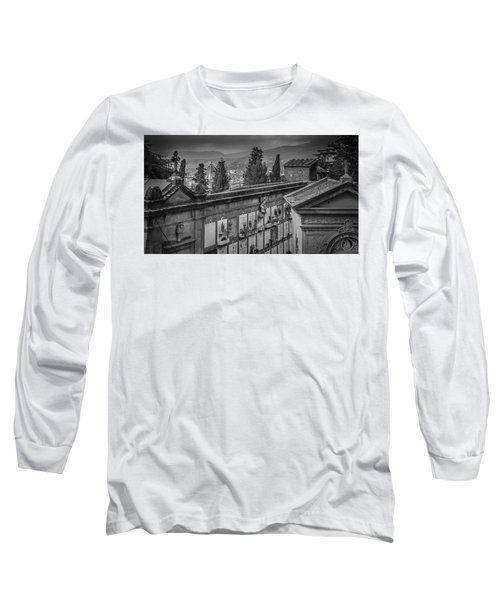 Il Cimitero E Il Duomo Long Sleeve T-Shirt by Sonny Marcyan