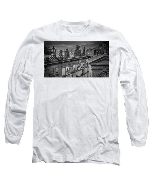 Il Cimitero E Il Duomo Long Sleeve T-Shirt by Sonny Marcyan