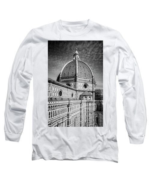 Long Sleeve T-Shirt featuring the photograph Il Duomo Florence Italy Bw by Joan Carroll