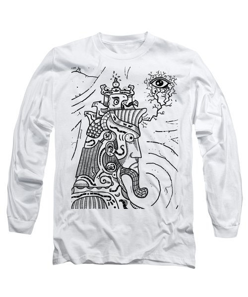 Surrealism Illuminati Black And White Long Sleeve T-Shirt