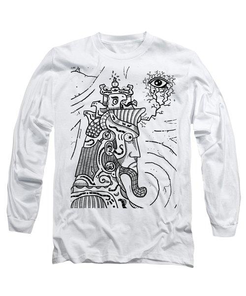 Surrealism Illuminati Black And White Long Sleeve T-Shirt