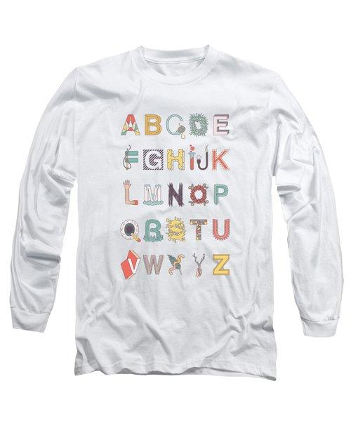 Illustrated Alphabet Long Sleeve T-Shirt