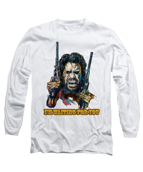 Long Sleeve T-Shirt featuring the painting I'm Waiting For You. by Andrzej Szczerski