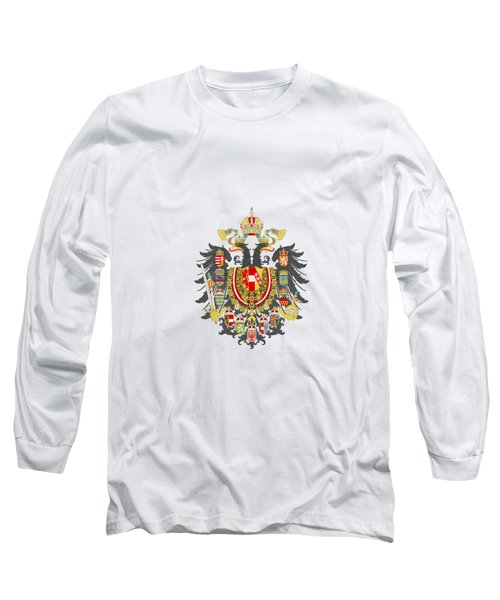 Long Sleeve T-Shirt featuring the digital art Imperial Coat Of Arms Of The Empire Of Austria-hungary Transparent by Sodacan