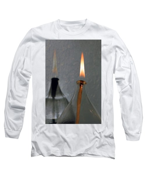Impossible Shadow Oil Lamp Long Sleeve T-Shirt by Jana Russon