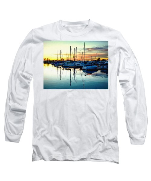Impressions Of A San Diego Marina Long Sleeve T-Shirt