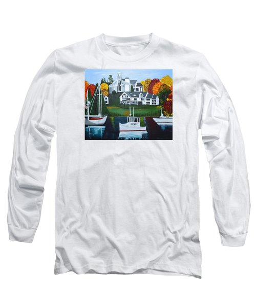 Long Sleeve T-Shirt featuring the painting Impressions Of New England Two by Donna Blossom