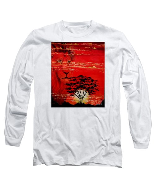 In An Arfican Sunset Long Sleeve T-Shirt