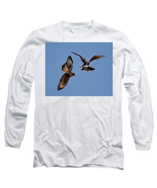 Long Sleeve T-Shirt featuring the photograph In Flight Challenge H43 by Mark Myhaver