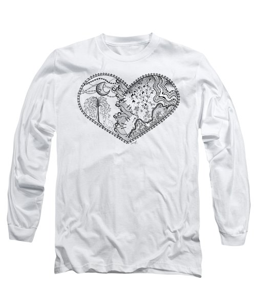 Repaired Heart Long Sleeve T-Shirt by Ana V Ramirez