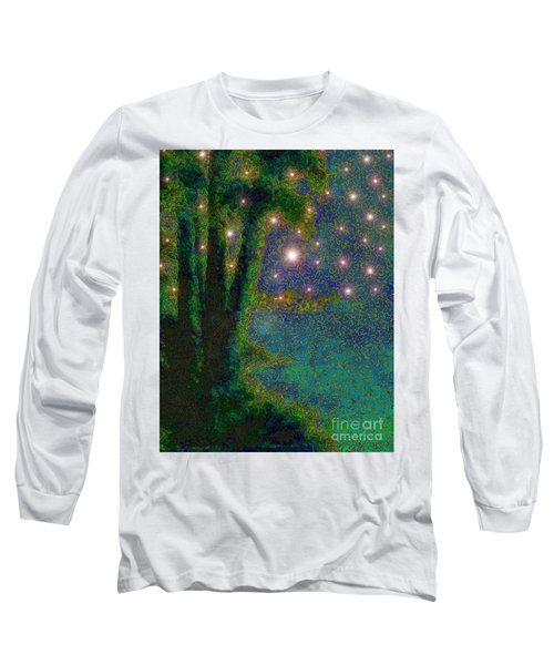 In The Beginning God... Long Sleeve T-Shirt by Hazel Holland