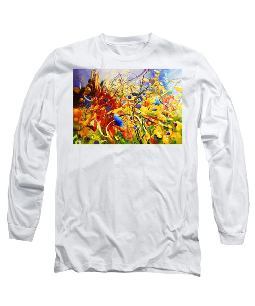 Long Sleeve T-Shirt featuring the painting In The Meadow by Georg Douglas