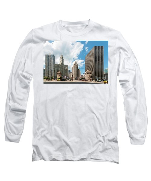 In The Middle Of Wacker And Michigan Long Sleeve T-Shirt