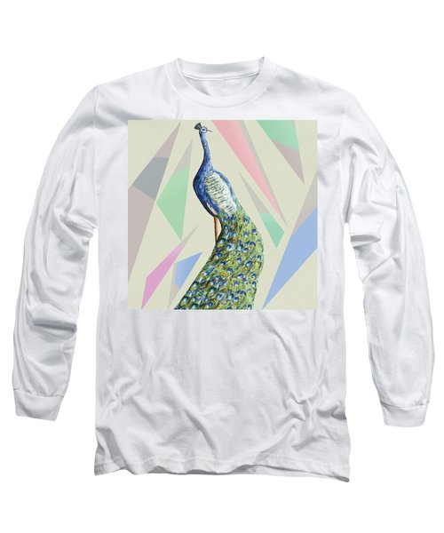 In The Month Of June The Peacock Danced A Long Sleeve T-Shirt by Thecla Correya