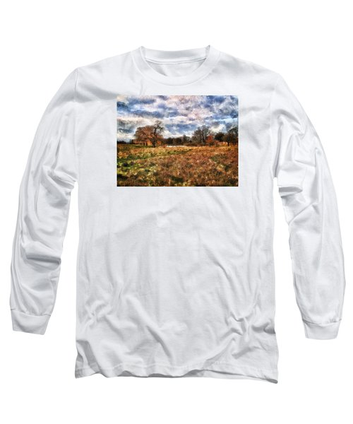 Long Sleeve T-Shirt featuring the digital art In The Rough by Leigh Kemp