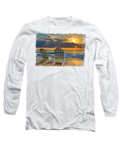 In The Spotlight Bordered Long Sleeve T-Shirt by Debra and Dave Vanderlaan