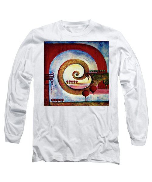 Long Sleeve T-Shirt featuring the painting In The World Of Balance by Anna Ewa Miarczynska